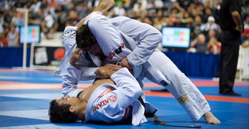 Gabriel Vella and Romulo Barral at the 2009 World Jiu-Jitsu Championships